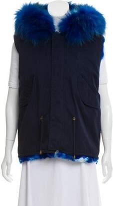 Alessandra Chamonix Fur-Lined Utility Vest w/ Tags