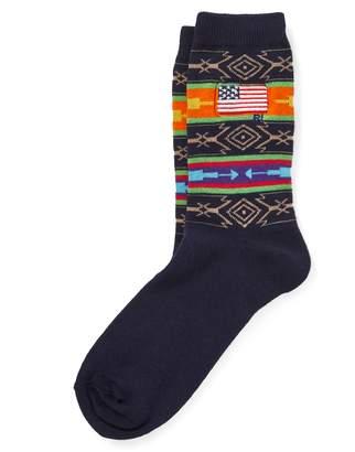 Ralph Lauren Fair Isle Flag Trouser Socks