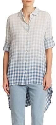 DKNY Plaid Hi-Lo Shirt