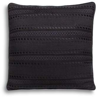 """Kate Spade Eyelet-Stripe Decorative Pillow, 16"""" x 16"""""""