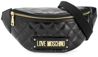 Love Moschino quilted belt bag