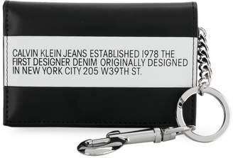 Calvin Klein Jeans keyring trifold wallet