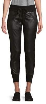 Blanc Noir Drawstring Skinny Pants