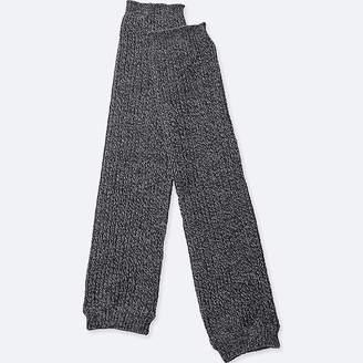 Uniqlo Women's Heattech Knitted Ribbed M+ëlange Leg Warmers