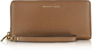 Michael Kors Mercer Large Luggage Pebble Leather Continental Wallet