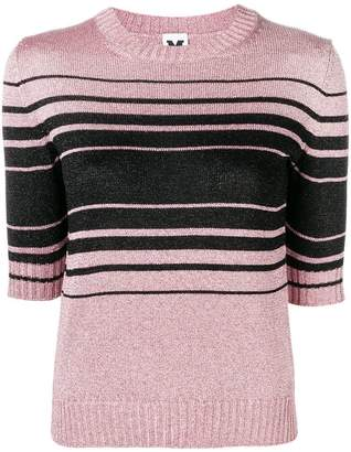 M Missoni striped shortsleeved sweater