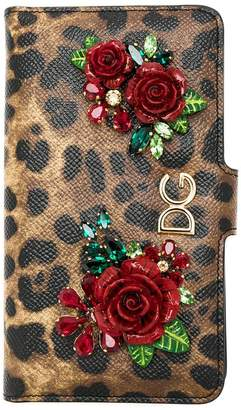 Dolce & Gabbana animal print embellished iPhone case