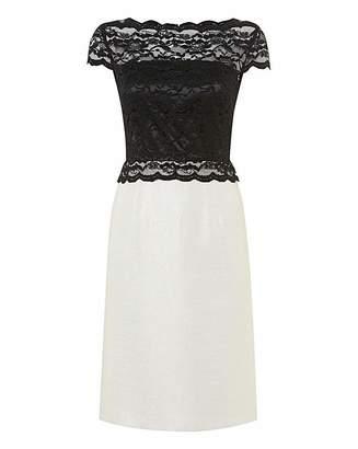 Gina Bacconi Contrast Lace & Woven Dress