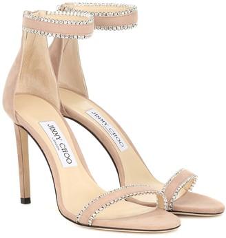 Jimmy Choo Dochas 100 suede sandals