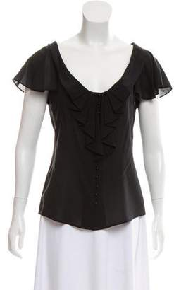 Zac Posen Silk Cap Sleeve Top
