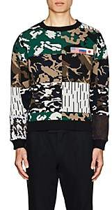 Gosha Rubchinskiy Men's Patch-Detailed Camouflage Knit Sweater