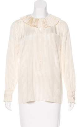 Marc Jacobs Striped Silk Top