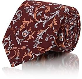 Tie Your Tie TIE YOUR TIE MEN'S FLORAL SILK NECKTIE-RED