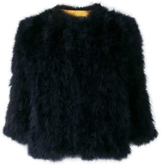 Yves Salomon feathers cropped jacket