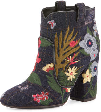 Laurence Dacade Pete Embroidered Wool Ankle Boots Multi