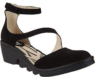 Nobrand NO BRAND FLY London Leather Closed Toe Wedges - Plan