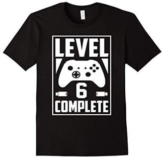 Level 6 Complete Video Gamer Geek Boys 6th Birthday Shirt