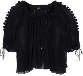 Elie Tahari Jocelyn Lace-Trimmed Silk-Georgette Blouse