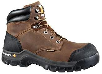 """Carhartt Men's 6"""" Rugged Flex Waterproof Breathable Composite Toe Leather Work Boot CMF6380"""