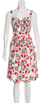 Oscar de la Renta Floral Knee-Length Dress
