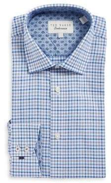 Ted Baker Plaid Cotton Dress Shirt
