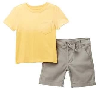 AG Jeans Acid Washed Shirt & Shorts Set (Baby Boys)