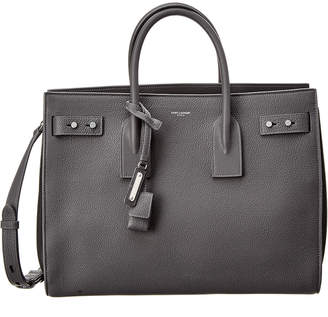 Saint Laurent Medium Sac De Jour Souple Leather Tote