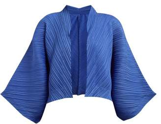 Pleats Please Issey Miyake Technical Pleat Jacket - Womens - Blue