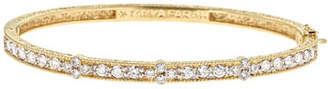 Farah Tanya 18K Modern Etruscan Diamond Cluster Bangle