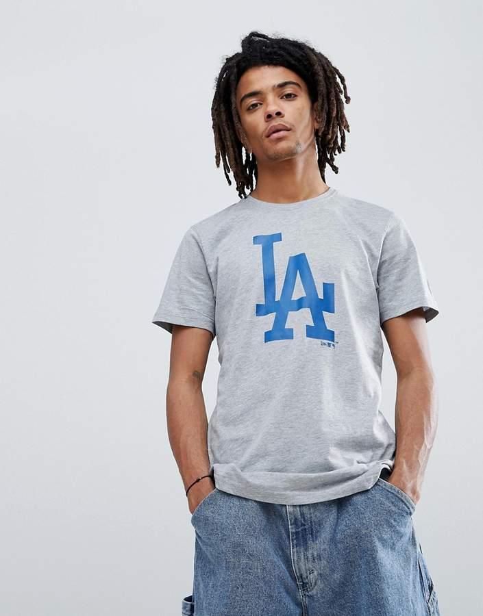 – LA Dodgers – Graues T-Shirt mit großem Logo