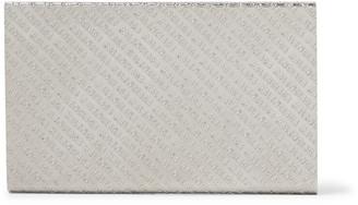 Balenciaga Engraved Silver-Tone Card Case - Men - Silver