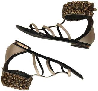 Roberto Cavalli Beige Leather Sandals
