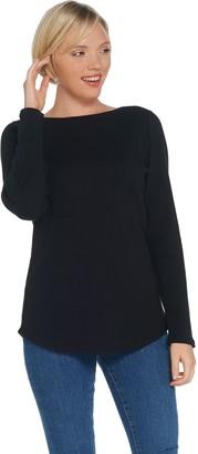 Denim & Co. Essentials Modern Fit Long-Sleeve Knit Top