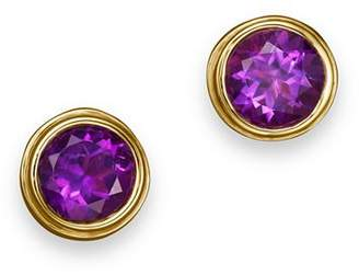 Bloomingdale's Amethyst Bezel Set Stud Earrings in 14K Yellow Gold - 100% Exclusive
