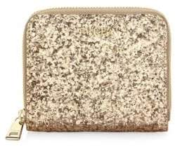 Furla Babylon Leather Zip-Around Glitter Wallet