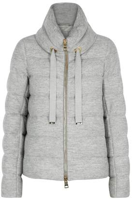 Herno Grey Quilted Metallic Jacket