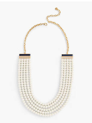 Talbots Multi-Strand Pearl Necklace