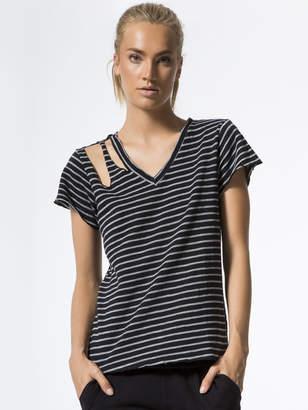 LnA Faded Stripe Pine Tee