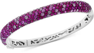 Effy Splash by Ruby (6-5/8 ct. t.w.) & Pink Sapphire (4 ct. t.w.) Bangle Bracelet in Sterling Silver