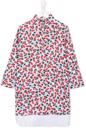 Marni floral zip-neck dress