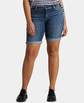 d45ceede9ff Silver Jeans Co. Elyse Denim Bermuda Relaxed Curvy-Fit Shorts