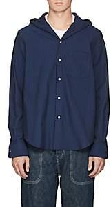 Loewe Men's Striped Cotton Seersucker Shirt - Navy