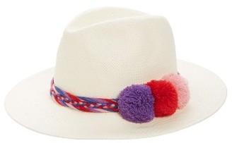 Women's Sole Society Pompom Straw Panama Hat - White $44.95 thestylecure.com