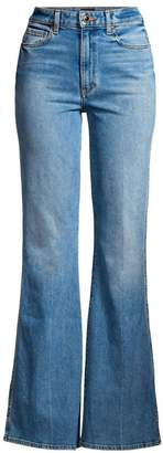KHAITE Reese Flared Leg Jeans