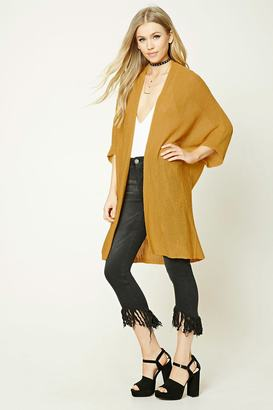 FOREVER 21+ Longline Open-Front Cardigan $19.90 thestylecure.com