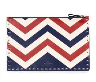 Valentino Rockstud Americana Leather Clutch Bag