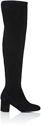 Barneys New York Women's Suede Over-The-Knee Boots $595 thestylecure.com