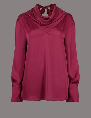 Marks and Spencer Cowl Neck Long Sleeve Blouse