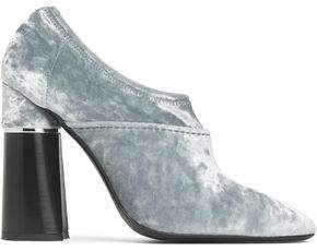 3.1 Phillip Lim Kyoto Crushed-Velvet Ankle Boots