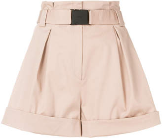 No.21 belted high-waisted shorts